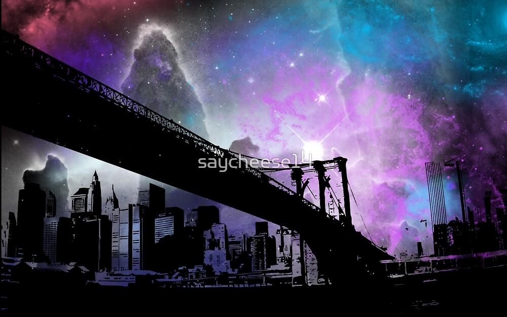Brooklyn Bridge silhouette  by saycheese14
