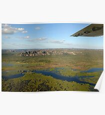 Kakadu from the air. The wetlands Poster