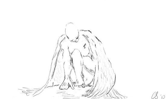 Fallen angel pencil ink sketch posters by esoterikdesigns redbubble fallen angel pencil ink sketch by esoterikdesigns thecheapjerseys Gallery