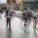 Skateboarders, Melbourne by Vicki Moritz