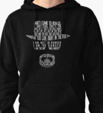 Breaking Bad - Walter White/Heisenberg Typography (White Print) Pullover Hoodie