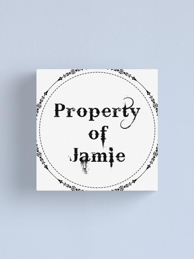 Alternate view of Property of Jamie Canvas Print