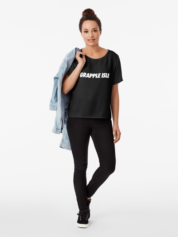 Alternate view of Grapple Isle - Simple Typography Chiffon Top
