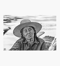 Thai Old Woman Photographic Print