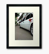 wedding car Framed Print