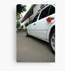 wedding car Canvas Print