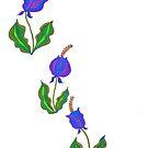Stilisierte lila Blumen von CarolineLembke