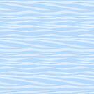 «Estampado de zebra - azul ondulado» de SilverPegasus