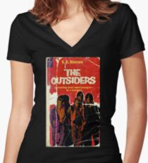 THE OUTSIDERS  Women's Fitted V-Neck T-Shirt