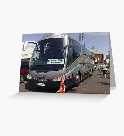 Nokia Collection - Fulham FC Team Coach Greeting Card