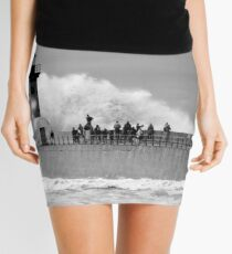 Lighthouse in a storm Mini Skirt
