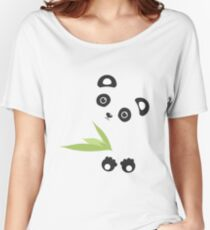 Cute Cartoon Kawaii Panda Women's Relaxed Fit T-Shirt