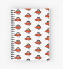 Surfer Cat - designed by Joe Tamponi Spiral Notebook