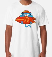 Surfer Cat - designed by Joe Tamponi Long T-Shirt