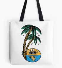 Smoking sunset - tropically designed by Joe Tamponi Tote Bag