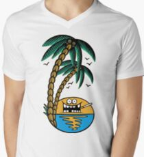 Smoking sunset - tropically designed by Joe Tamponi Men's V-Neck T-Shirt
