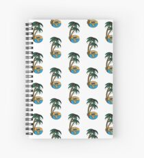 Smoking sunset - tropically designed by Joe Tamponi Spiral Notebook