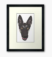color dog dog Framed Print
