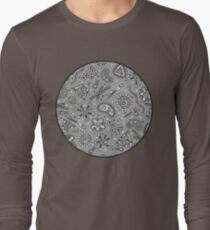 Microbes - Grey / Gray Long Sleeve T-Shirt
