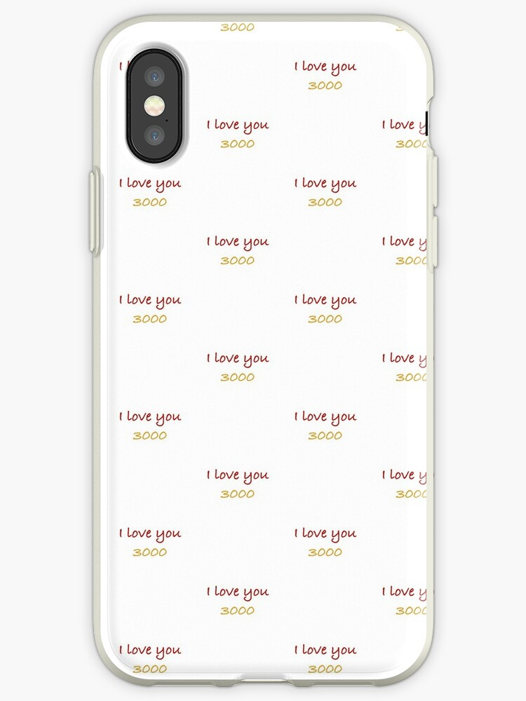 separation shoes c2a99 dfbbd 'I love you 3000' iPhone Case by beccaobrienMD13