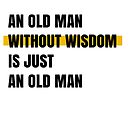 An old man without wisdom is just an old man by Aydin Habibi