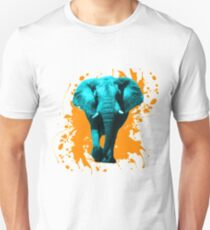 Elefant in Türkis Unisex T-Shirt