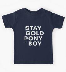 STAY GOLD PONY BOY Kids Tee