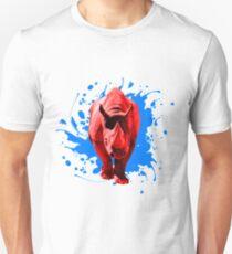 Rotes Nashorn Unisex T-Shirt