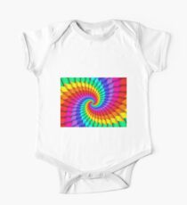 Psychedelic Rainbow Spiral  One Piece - Short Sleeve