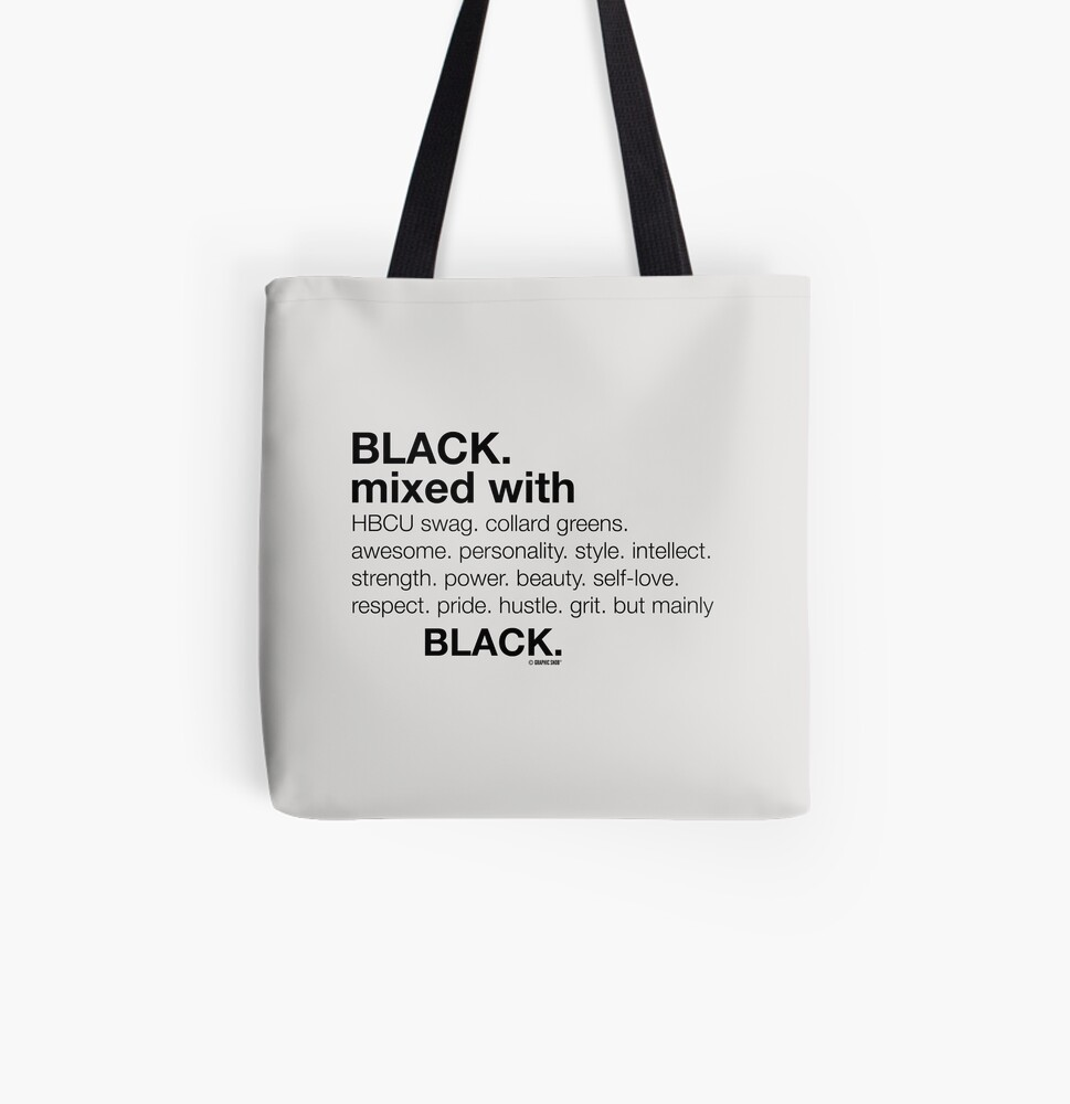 Black Mixed With... Black All Over Print Tote Bag