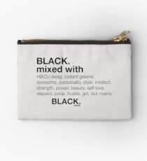 Black Mixed With... Black Zipper Pouch
