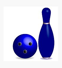 Bowling concept Photographic Print