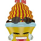 Tränen lachendes Emoticon Cupcake von Stefanie Keller