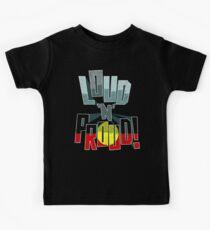Aboriginal Australia Pride Loud N Proud Kids T-Shirt