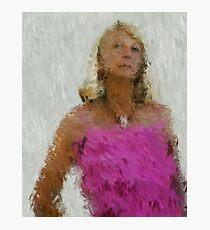 pink frills Photographic Print