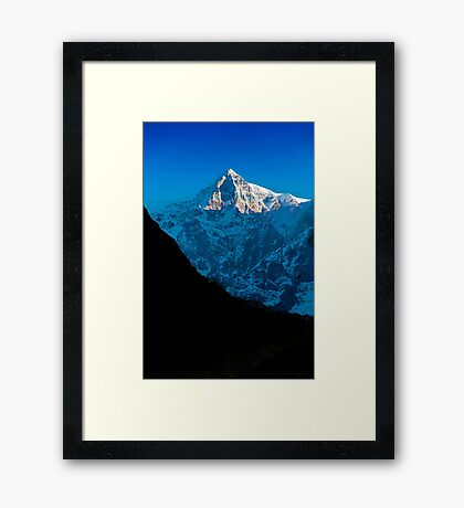 Himalaya Peak at Kedarnath Framed Print