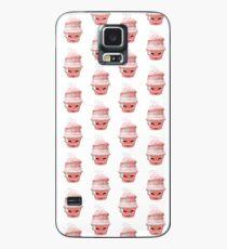 Erleichtertes Emoticon Cupcake Hülle & Klebefolie für Samsung Galaxy