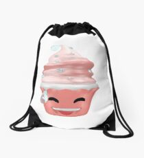 Erleichtertes Emoticon Cupcake Turnbeutel