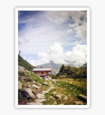 The Hut in the Mountains Sticker