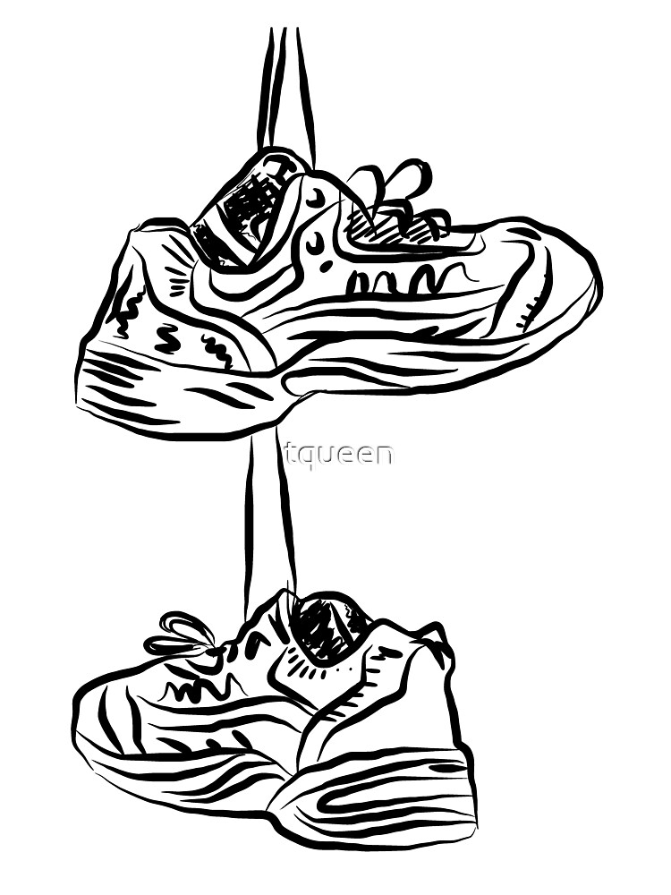 Pair of hanging running shoes by tqueen