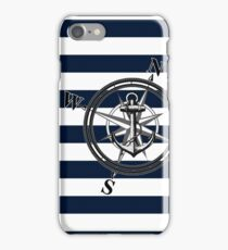 Navy Striped Nautica iPhone Case/Skin