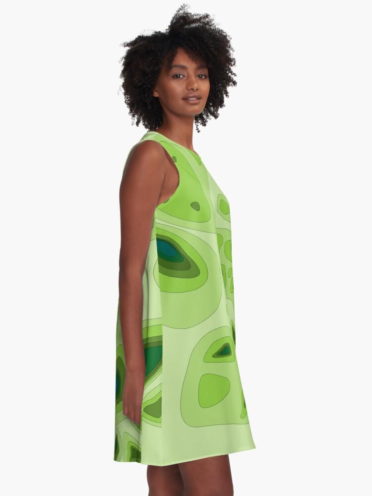Alternative Ansicht von Topo-Karte A-Linien Kleid