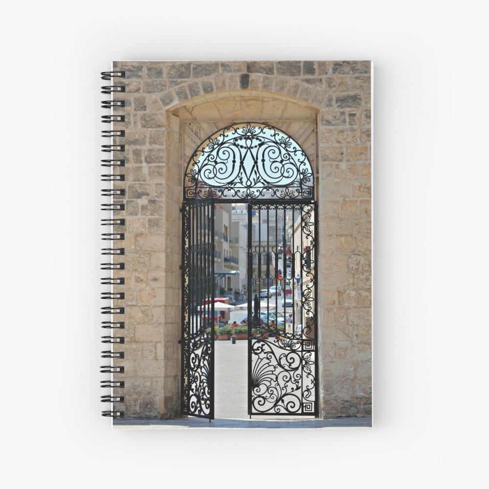 Gated Door Way Mellehia Spiral Notebook