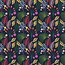 Tropical Botanical Foliage Pattern by anabellstar