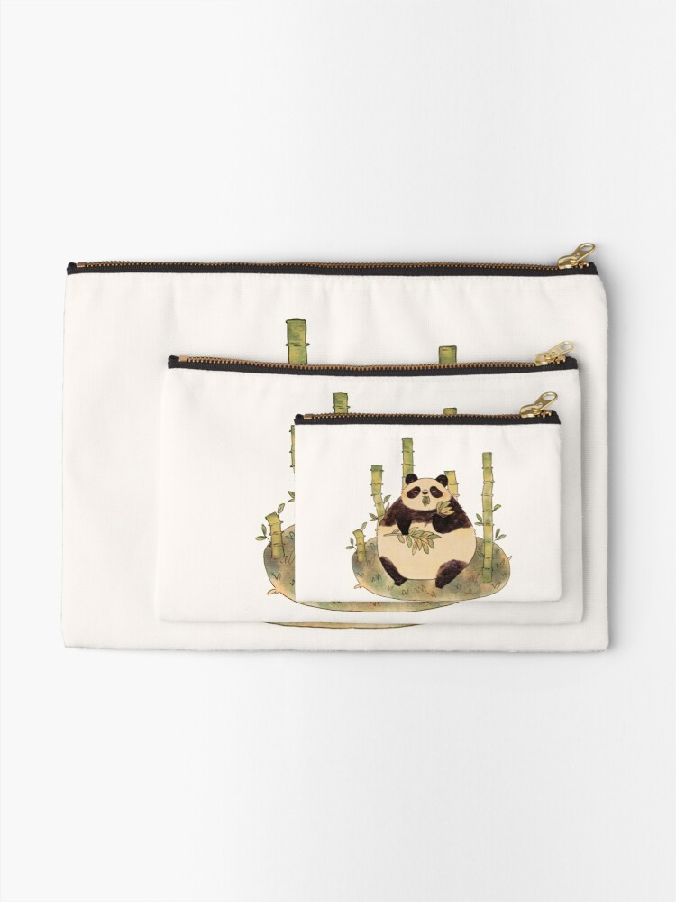Alternate view of Chubby Panda Zipper Pouch