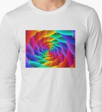 Psychedelic Rainbow Spiral  Long Sleeve T-Shirt
