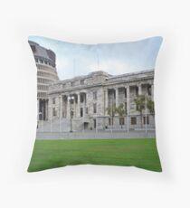 """The Beehive"" - Parliament, Wellington, New Zealand Throw Pillow"