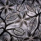 Black and White Flower design by artyfact