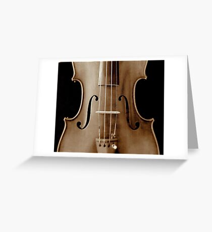 copy of Stradivarious 'Soil' 1714 (sepia) © 2010 patricia vannucci  Greeting Card