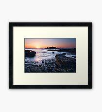 Cornwall - Godrevy Lighthouse Framed Print